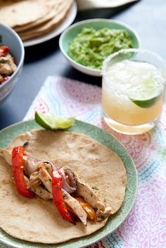 Grilled Chicken Fajitas | Annie's Eats. Easy to adapt to add other veggies and give everyone what they want.