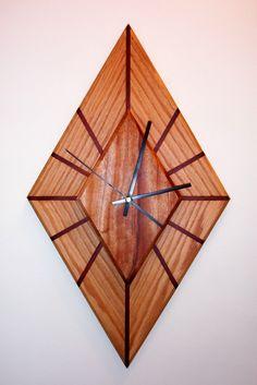 Diamond-shaped clock