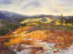 "August's Awesome Pastels: Kahne Smith, ""Last Snow, Beartooth Mountains,"" pastel on UArt 400, 12 x 16 in"