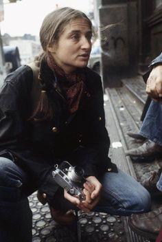 Photographer Susan Meiselas, 1978  by Jean Gaumy. Magnum-photographer and documentarist