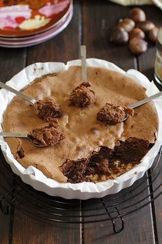 FONDANT DE CASTAÑAS Y ALMENDRAS Gluten Free Treats, Sin Gluten, Chocolate Recipes, No Bake Cake, Sweet Recipes, Sweet Tooth, Bakery, Food And Drink, Fondant