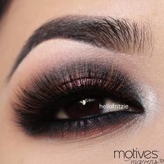 Brown #eye #eyes #makeup #eyeshadow #smokey #dramatic #dark