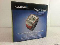 Garmin Forerunner 305 GPS Receiver w/Heart Rate Monitor Triathlon Run Cycle IOB