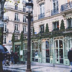 """"""" Champs Elysées, Paris, France """" Most beautiful, walking down to the Louvre behind me the arch, love this cobble street"""