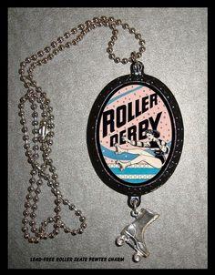 Roller Derby Pendant necklace Roller Skate by sweetheartsinner