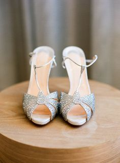 Silver Art Deco Bridal Shoes