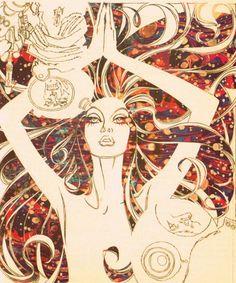 "GUSTAV KLIMT LADY WALL ART CANVAS PRINT PICTURE 12/""x12/"" FREE UK P/&P"