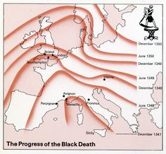 Progress of the Black Death