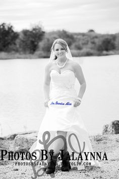 Bride photography pose. Something blue for a bride