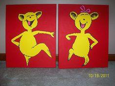Dr Seuss Hop on Pop Canvas Paintings 16x20 Pbk | eBay