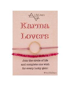 One Wish, Circle Of Life, Karma, Gems, Charmed, Bracelets, Jewelry, Jewlery, Jewerly
