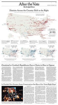 The New York Times (USA) Districts Across the Country Shift to the Right Malofiej 19 awards