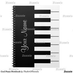 Cool Piano Notebook