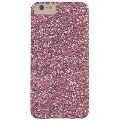 Pink Faux Glitter Barely There iPhone 6 Plus Case