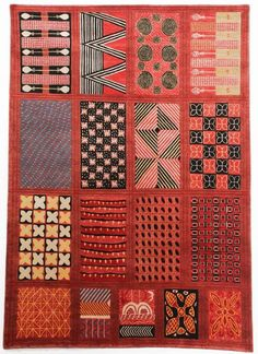 NIKE DAVIES OKUNDAYE Ibadan Dun and Olokun Hand-knotted Tibetan #rug Himalayan wool..Check out our website for more..http://africaonthefloor.com/ #african #art