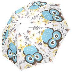 Amazon.com: Grrl Owl Foldable Umbrella YS060612: Clothing