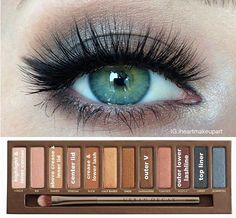 For green eyes makeup #naked