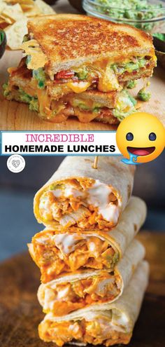 Chicken Roll Ups?Tired of eating the same old lunch every day? If you get bored with the same old lunch every day. Try some of these incredible homemade lunches. These lunches are delicious and nutritious. Lunch Snacks, Clean Eating Snacks, Lunch Menu, Easy Lunches For Work, Kid Lunches, Kid Snacks, Healthy Lunches, School Lunches, Lunch Foods