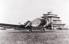 Ju 52 auf der Fluglinie Berlin-Chemnitz-Karsbad-München
