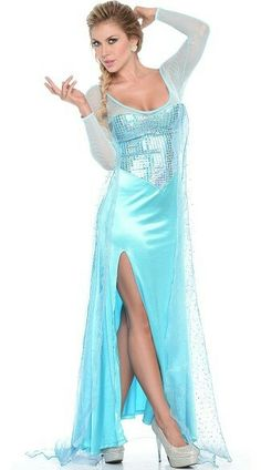 16 Revealing Disney Halloween Costumes to Ruin Your Childhood Forever  sc 1 st  Pinterest & Elsa Costume adult Frozen Costume disney princess costumes frozen ...