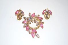 DeLizza Elster Pink Lavender Matched Brooch by LustfulJewels
