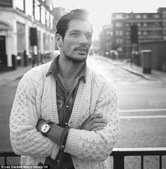 stylish model David Gandy