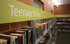 Melbourne City Library signage fitout by http://www.librariesinsideout.com.au