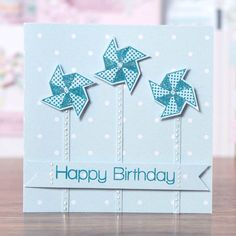 Pin wheel #HappyBirthday card design from the @craftworkcards Summer Days Collection! Shop now at C+C: http://www.createandcraft.tv/pp/craftwork-cards-summer-days---cards%2c-ins-345342?p=1 #cardmaking #papercraft