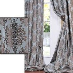 @Overstock - Defined by a unique sheen and fine weave, this exclusive patterned faux silk taffeta curtain panel is gorgeous and timeless. This window panel has a crisp, smooth finish in color-coordinated patterns.  http://www.overstock.com/Home-Garden/Medium-Teal-Blue-With-Cocoa-Brown-Patterned-Faux-Silk-120-inch-Curtain-Panel/5690650/product.html?CID=214117 $113.99