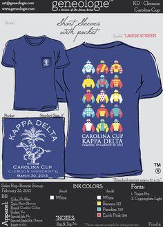 KD Carolina Cup or Ketucky Derby shirt - kappa delta