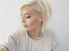 Blonde hair with undercut