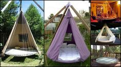 Outdoor Hanging Bed Diy Trampoline I Wanna Sleep On This