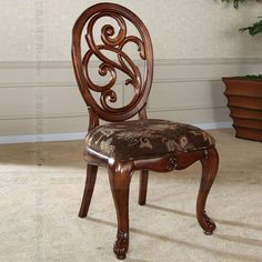 American furniture, wood carving chair classical European furniture restaurant casual dining chairs Chair DHY-5076S- Taobao