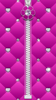 Hearts and Diamonds Pink Wallpaper
