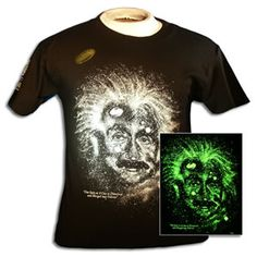 $18  Glow in the Dark Albert Einstein Tee  Available in the AMSE Discovery Gift Shop (http://bit.ly/pYBW6G)