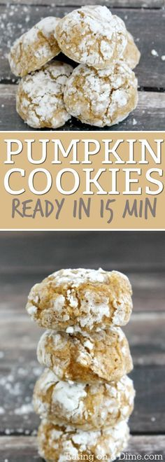 Oh my this Pumpkin Cookie recipe is amazing! You can make them in under 15 minutes, with very few ingredients. Try this Pumpkin Spice Cookies Recipe today!