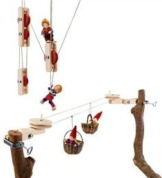 pulley/cable car kit - this would be SO much fun for the kids in the tree fort