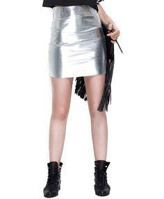 Slim Fit Split Joint Skirt