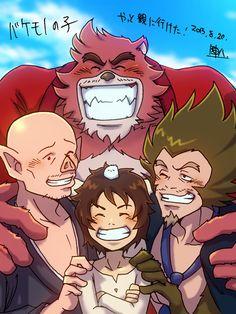 The Boy and the Beast #Kumatetsu #Kyuta #Tatara #Hyakushubo (by 陣八)