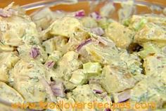 Dill Potato Salad Recipe from Ina Garten and Food Network. I suggest using a little less dill, and substituting red potatoes and Vidalia onions. Uk Recipes, Potato Recipes, Food Network Recipes, Salad Recipes, Cooking Recipes, Cooking Tips, Recipe Sites, Ina Garten Potato Salad, Gourmet