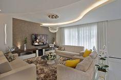 40 salas de estar com decoração espetacular (De Nilbberth Silva - homify)