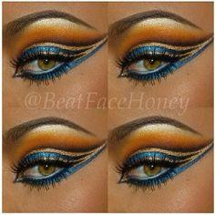 Augen Make Up Cleopatra - Make-Up Trends Cleopatra Makeup, Egyptian Makeup, Egyptian Eye, Egyptian Party, Makeup Inspo, Makeup Art, Makeup Inspiration, Hair Makeup, Makeup Ideas