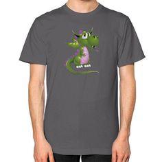 Draco Green Purple Unisex T-Shirt (on man)