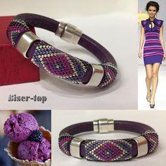 ✜ Beaded harnesses ✜ Knitting with beads ✜ Patterns ✜ - Schmuck Selber Machen Beaded Jewelry Designs, Seed Bead Jewelry, Handmade Jewelry, Foot Bracelet, Bead Loom Bracelets, Beaded Crafts, Earring Tutorial, Bead Crochet, Beading Patterns