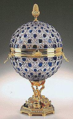 Czar Alexander's blue crystal caviar presentoire