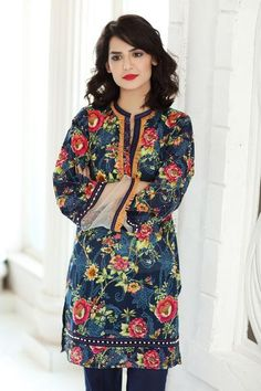 Gul Ahmed 2017 Summer Collection Navy 1 Pc Printed Lawn Single SL-328 A