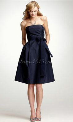 short blue bridesmaid dresses