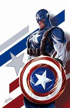 captain america in Collectible Comics Marvel Comics, Marvel Heroes, Marvel Characters, Marvel Avengers, Secret Avengers, Captain America Comic, Captain America Wallpaper, Comic Book Heroes, Comic Books Art