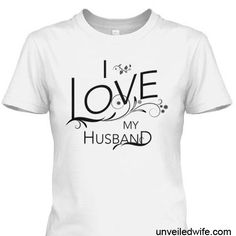 This official I Love My Husband T-shirt is a statement piece that reflects a beautiful message.  Hopefully by wearing this shirt conversations will spark regarding marriage and others will be reminded of the love they have for their spouse!  It will inspire positive thoughts and encouragement towards marriage.    Not to mention your husband will feel respected and loved when he sees his proud wife flaunting these precious words for all to see!