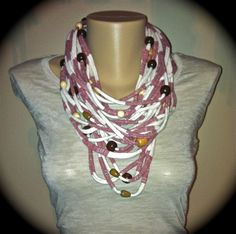 Bead wrapped scarf
